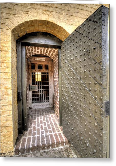 Fort Moultrie Magazine Door Greeting Card