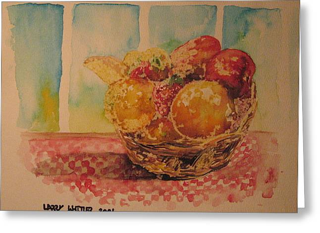 Fruitbasket Greeting Card by Larry Whitler