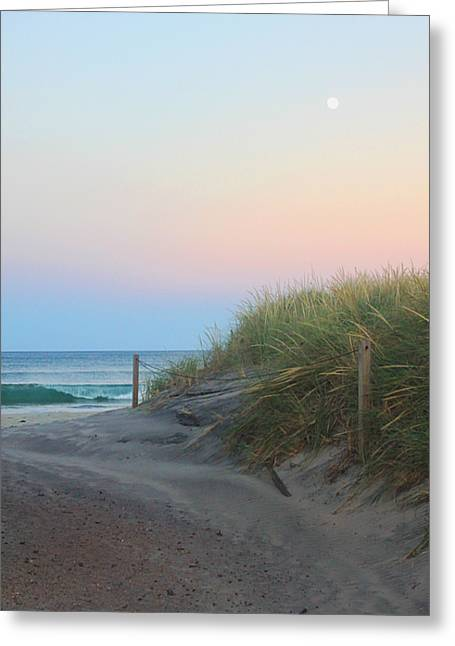 Full Moon Wave Greeting Card