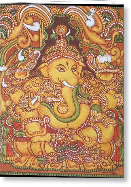 Ganesa 1-kerala Mural Greeting Card