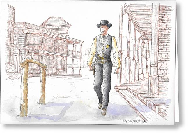 Gary Cooper In High Noon, 1962 Greeting Card