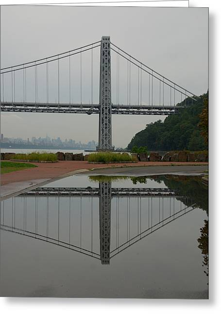 Greeting Card featuring the photograph George Washington Bridge by Steven Richman