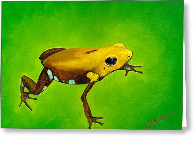 Golden Frog Of Supata Greeting Card