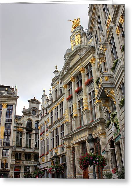 Golden Grand Place Greeting Card by Carol Groenen