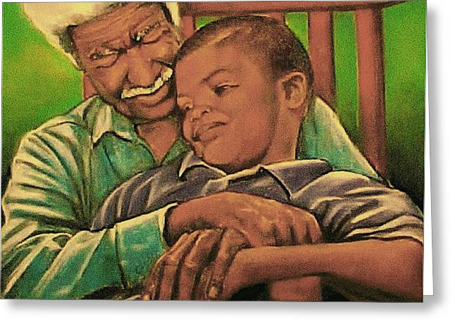 Grandpa And Me Greeting Card by Curtis James