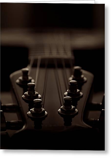 Guitar Bridge Greeting Card