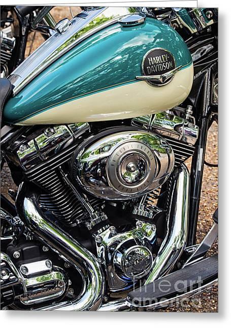 Harley Davidson Road King Greeting Card