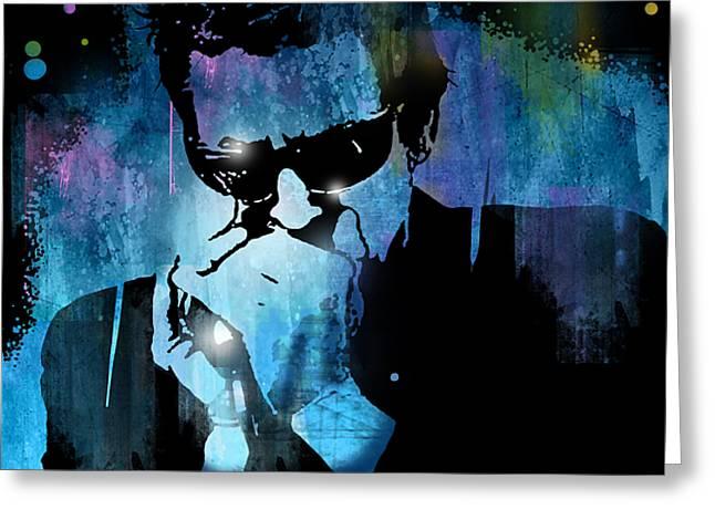 Harmonica Blues Greeting Card by Paul Sachtleben