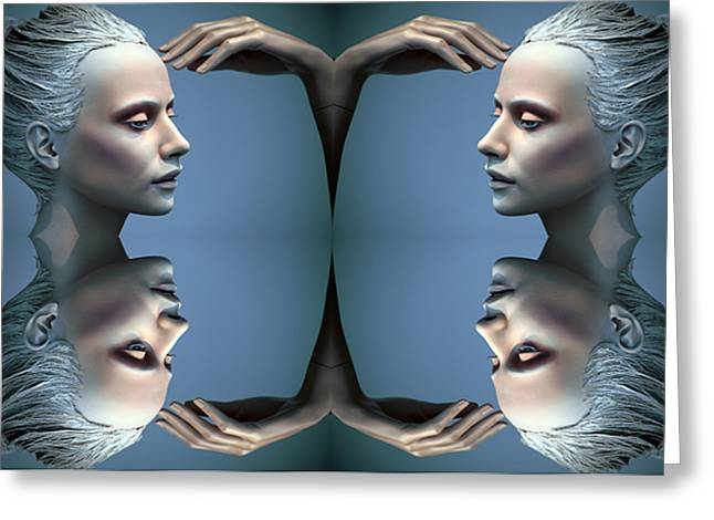 Heads As One Thought Greeting Card