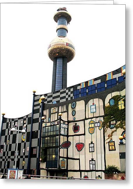 Hundertwasser Building Greeting Card