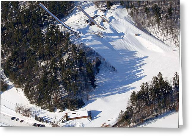 I-006 Iola Wisconsin Winter Sports Club Greeting Card by Bill Lang