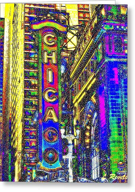 Iconic Chicago Greeting Card by Leslie Revels Andrews