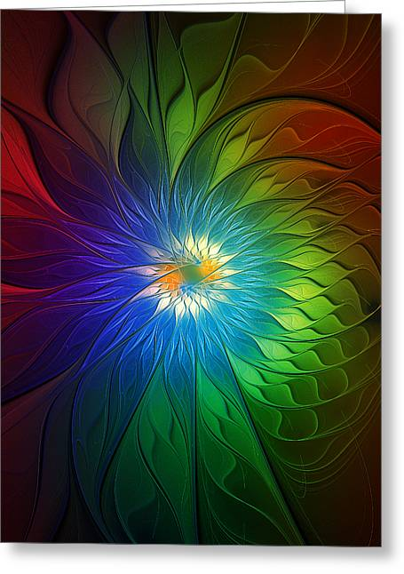 Into Light Greeting Card by Amanda Moore