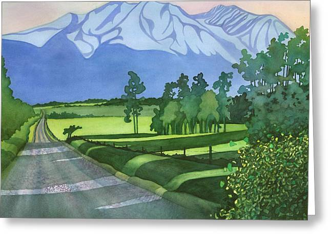 Into The Valley Greeting Card by Anne Havard