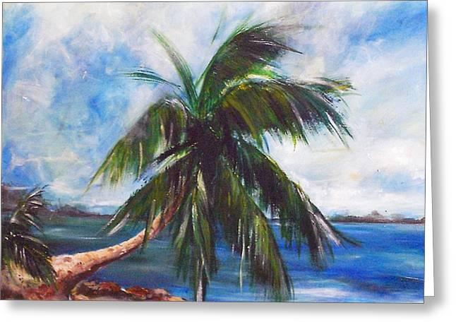 Island Iv Greeting Card by Amy Williams