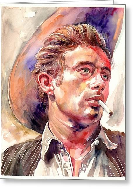 James Dean Portrait Greeting Card