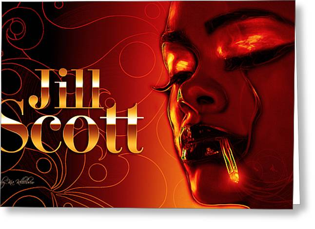 Jill Scott Greeting Card