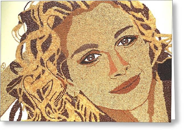 Julia Roberts Greeting Card by Kovats Daniela