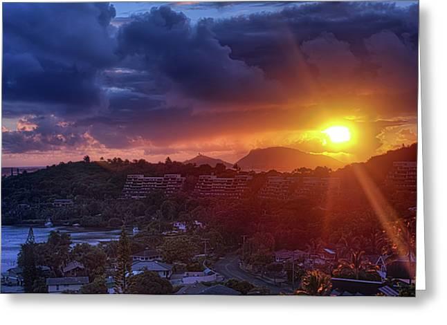 Kaneohe Sunrise Greeting Card by Dan McManus