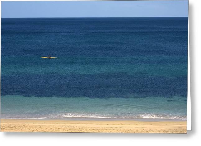 Kayaking On The Coastline Of Wa Greeting Card