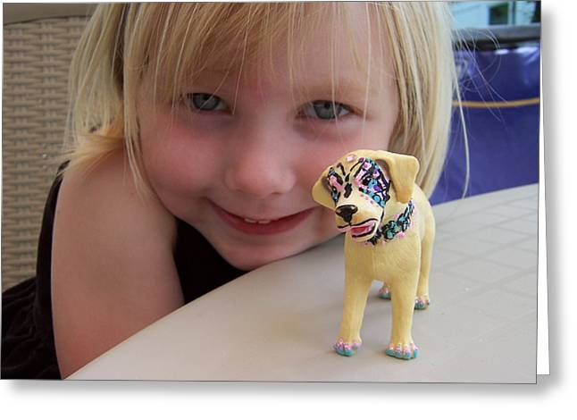 Lacey's Face Painted Dog Greeting Card