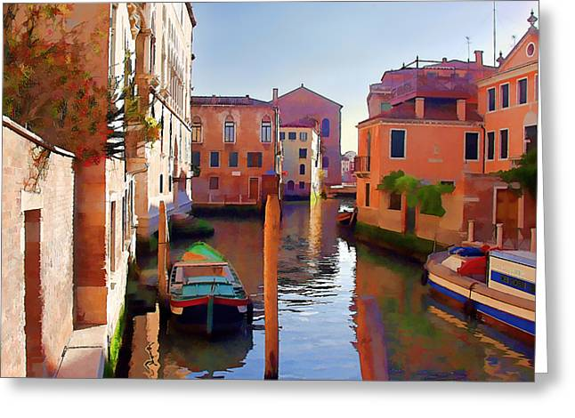 Late Afternoon In Venice Greeting Card by Elaine Plesser