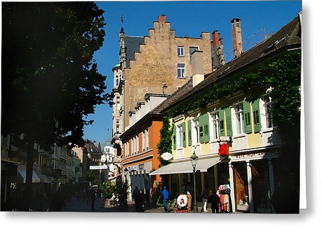 Lausanne Street Greeting Card by Nick Diemel