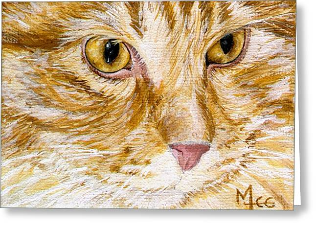 Leo Greeting Card by Mary-Lee Sanders