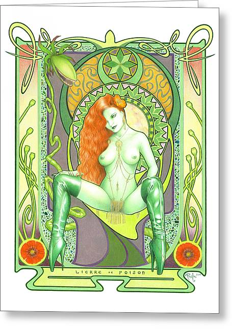 Lierre De Poison Greeting Card by Paul Petro