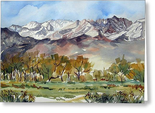 Greeting Card featuring the painting Linda's View by Pat Crowther