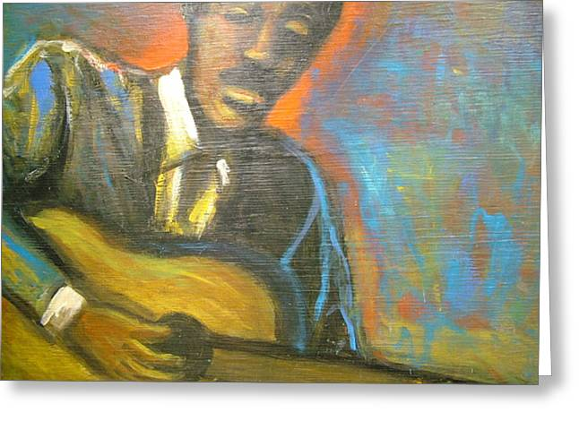 Lonesome Blues Greeting Card by Jan Gilmore