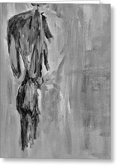 Male Nude 3 Greeting Card by Julie Lueders