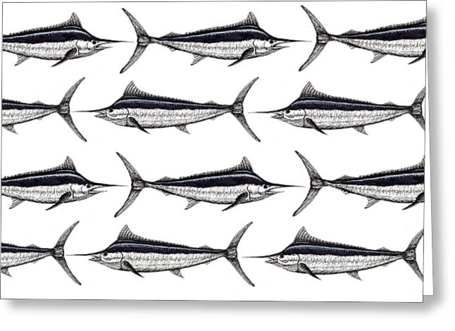 Many Marlin Greeting Card by Jay Talbot