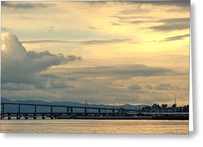 Mare Island Bridge And Cloudscape Greeting Card by Steven Wynn