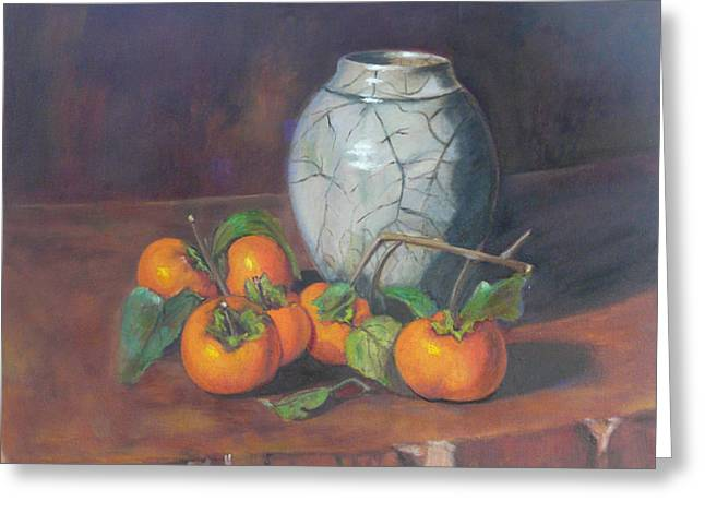 Marie's Persimmons  Greeting Card