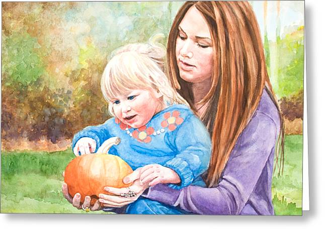 Mary And Grace Greeting Card