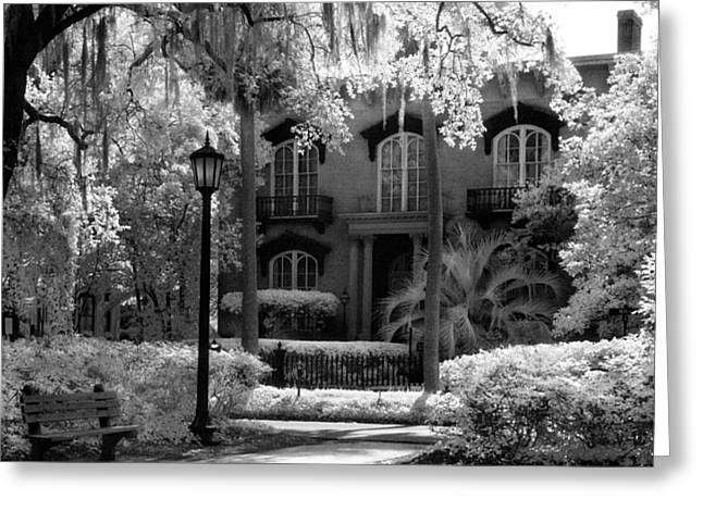 Mercer Williams House Greeting Card by Jeff Holbrook