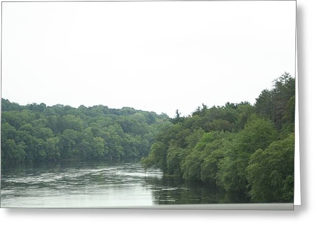 Mighty Merrimack River Greeting Card by Barbara S Nickerson
