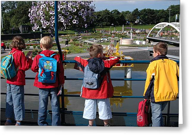Greeting Card featuring the photograph Miniature Playground by Vilas Malankar