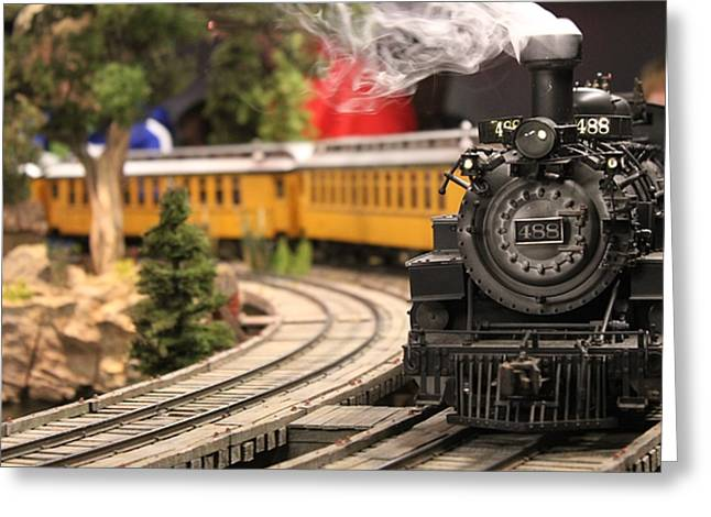 Model Train Greeting Card