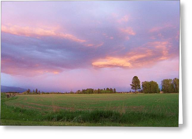 Montana Sunsets 3 Greeting Card
