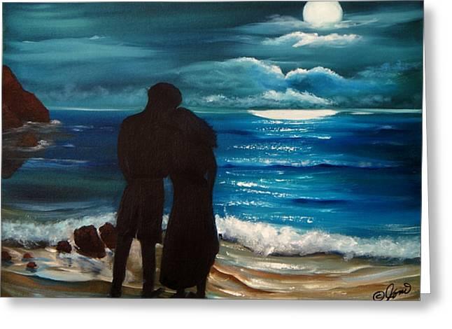 Moonlight Romance Greeting Card by Joni McPherson