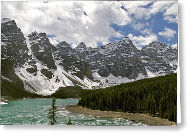 Moraine Lake Jasper National Park Landscape Photograph Canadian Rockies Greeting Card