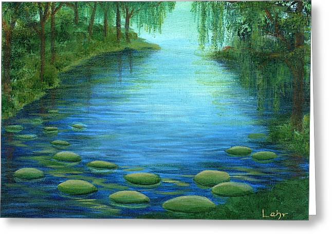 Mossy Cove Greeting Card by Diana Lehr
