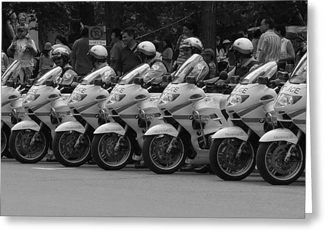 Motorcycle Brigade Greeting Card by Robert Knight