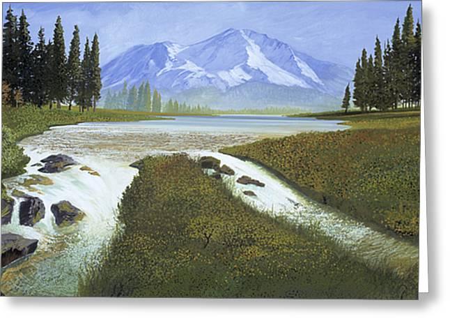 Mt. Shasta Landscape Greeting Card