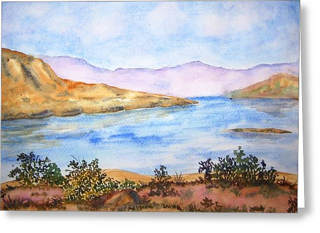 Mulshi Lake Greeting Card by Monika Deo