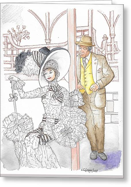 My Fair Lady With Audrey Hepburn And Rex Harrison, 1964 Greeting Card