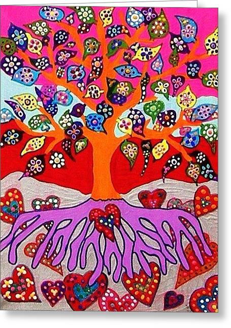 My Heart Flowers For You Greeting Card by Sandra Silberzweig