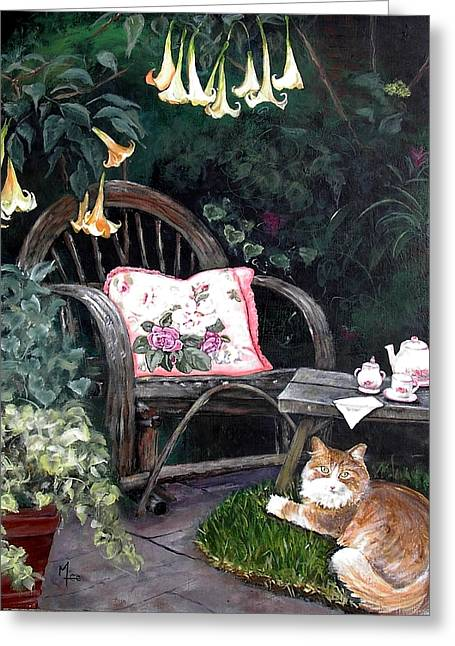 My Secret Garden Greeting Card by Mary-Lee Sanders